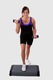 aerobiki robią dziewczyna krokowi Obraz Royalty Free