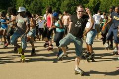 aerobiskt åka skridskor för demonstration Royaltyfri Foto