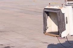 Aerobridge in einem Flughafen Stockfoto