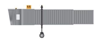 Aerobridge or Jetway or Jet bridge Isolated on white background Stock Image