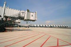 Aerobridge at Suvarnabhumi airport Royalty Free Stock Photos