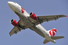 Aerobus A319-112 Obrazy Stock