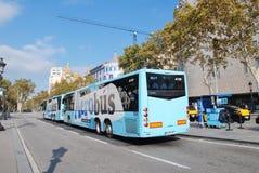 Aerobus anslutning, Barcelona Arkivbild