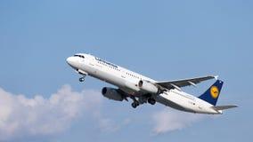 Aerobus A321-231 Lufthansa Zdjęcia Royalty Free