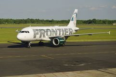 Aerobus A319 od Frontier Airlines Zdjęcia Stock
