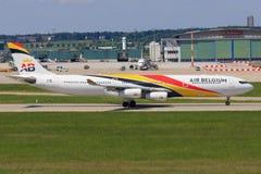 Aerobus A340 od Lotniczego Belgia Zdjęcie Royalty Free