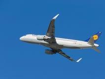 Aerobus A320-214 samolot Zdjęcie Stock