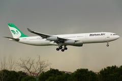 Aerobus A340 samolot fotografia royalty free