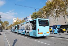 Aerobus shuttle, Barcelona Stock Photography