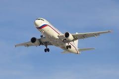 Aerobus A320-214 VP-BWI linii lotniczej Rosja lądowanie w Pulkovo lotnisku Zdjęcie Royalty Free
