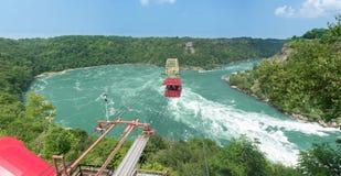 Aerocar sopra le rapide del mulinello Fotografia Stock Libera da Diritti