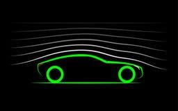 Aerodinâmica do carro ilustração royalty free
