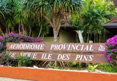 The Aerodrome de l' Ile des Pins (ILP)  in New Caledonia Royalty Free Stock Photos