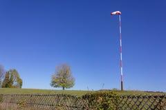 Aerodrome wind vane. On sunny autumn day in south germany stock photo