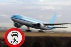 Aerodromo del segno fotografia stock libera da diritti
