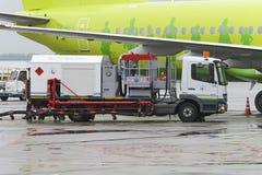 Aerodromu samochodu tankowiec Obrazy Royalty Free