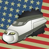 Aerodynamic American train Stock Images