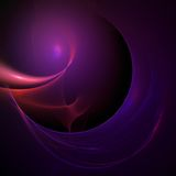 Aerodynamic globe background. Abstract aerodynamic purple globe on black background Royalty Free Illustration