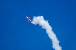 Aerodynamischer Stall an einer Flugschau Stockbild