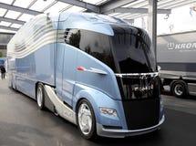 Aerodynamisk begreppslastbil för MAN Arkivfoto