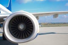 Aeroengine. Close up of turbojet's aeroengine Stock Images