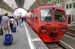 Aeroexpress in den Bahnhofsplattformen Kiews, Moskau, Russland Stockfoto