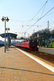 Aeroexpress Electric train Russian Railways in Moscow Stock Images