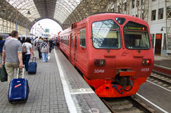 Aeroexpress in Kiev railway station platforms, Moscow, Russia Stock Photo