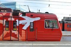 Aeroexpress-Zug Stockbilder