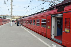 Aeroexpress-Zug Stockfotografie