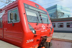Aeroexpress-Zug Lizenzfreies Stockfoto