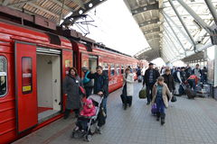 Aeroexpress-Zug Stockfotos
