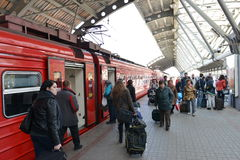 Aeroexpress-Zug Lizenzfreie Stockbilder