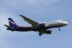 A320 Aeroflot Fotografering för Bildbyråer