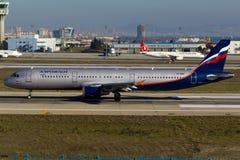 Aeroflot Airbus A321 Stockfotos