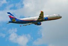 Aeroflot Airbus A321 Imagens de Stock
