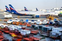 Aeroflot Airbus A321 Lizenzfreies Stockfoto