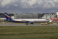 Aeroflot Airbus A321 Royalty Free Stock Images