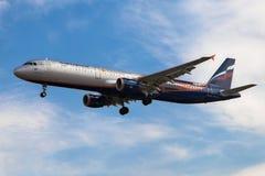 Aeroflot Airbus A321 Manchester United Stockbild
