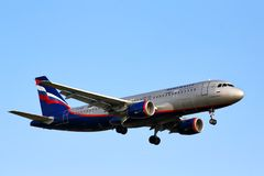 Aeroflot Airbus A320 Stock Photography