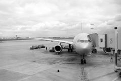 Aeroflot Airbus A330 an Moskau-Flughafen Stockfoto