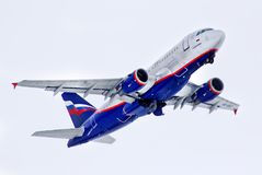Aeroflot Airbus A319 Royalty Free Stock Photos