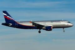 Aeroflot Airbus A320 Plane Stock Photos