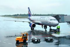 Aeroflot Airbus A319 Royalty Free Stock Images