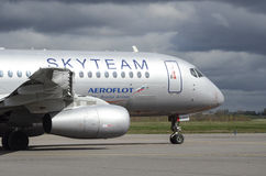 Aeroflot stock photo