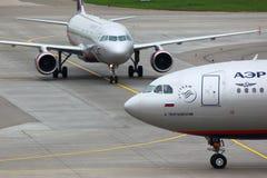 Aeroflot Airbus A330-343X VQ-BEK en el aeropuerto internacional de Sheremetyevo Imagen de archivo libre de regalías