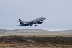 Aeroflot airplane Stock Images