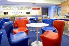 Aeroflot-Aufenthaltsrauminnenraum Stockfotos