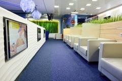 Aeroflot-Aufenthaltsrauminnenraum Stockbild