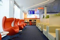 Aeroflot-Aufenthaltsrauminnenraum Lizenzfreies Stockfoto